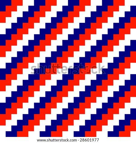 Diagonal seamless striped background (vector) - stock vector
