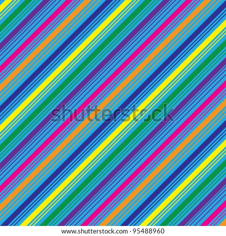 Diagonal Stripes Background - stock vector