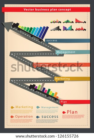 Diagram business plan concept With truck, Modern Design template / infographics - stock vector