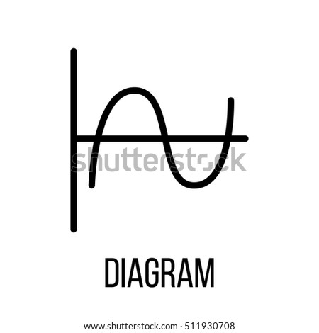 Diagram icon logo modern line style stock vector 511930708 diagram icon or logo in modern line style high quality black outline pictogram for web ccuart Image collections