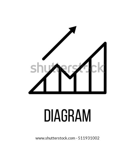 Diagram icon logo modern line style stock vector 511931002 diagram icon or logo in modern line style high quality black outline pictogram for web ccuart Images