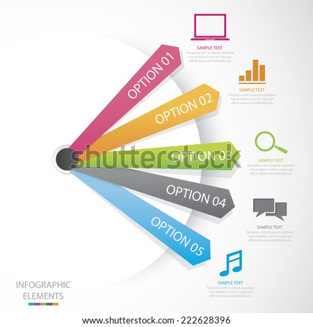 Diagram Social Media - stock vector