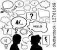 dialog bubbles great set vector - stock vector