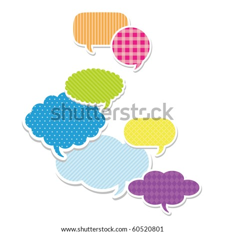 Dialog clouds. vector illustration - stock vector