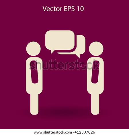 dialogue human  vector icon - stock vector