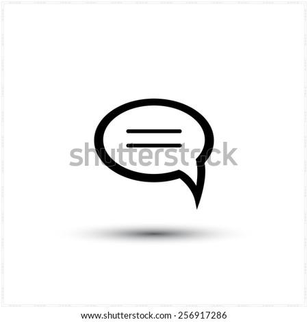 dialogue quote vector icon - stock vector