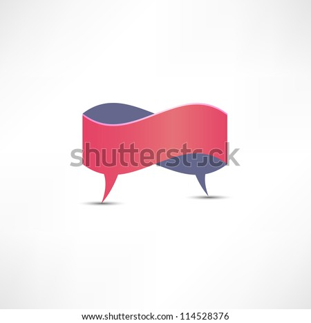 Dialogue Speech bubble - stock vector