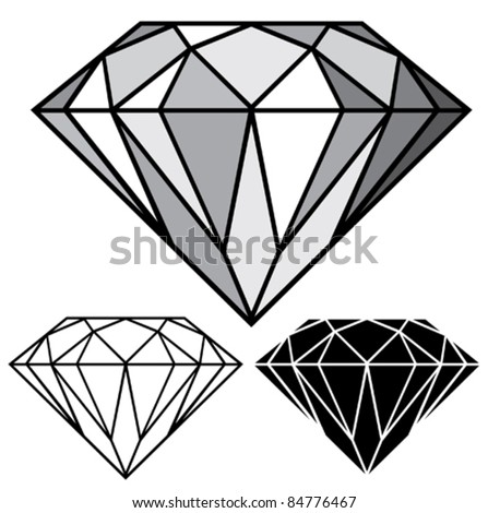 diamond - stock vector
