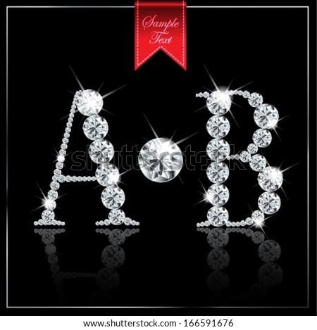 diamond abc-A,B - stock vector
