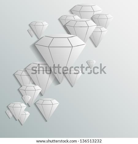 diamond background - stock vector