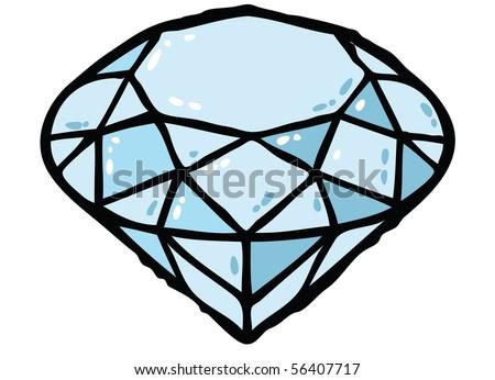 Diamond color vector illustration - stock vector