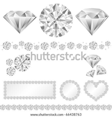 diamond decoration - stock vector
