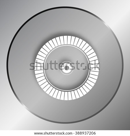 Diamond disc for concrete cutting - vector icon