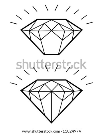 diamond group - stock vector