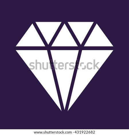 Diamond icon . Gem symbol . Vector illustration