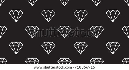 Diamond Icon Jewelry Vector Seamless Pattern Wallpaper Background