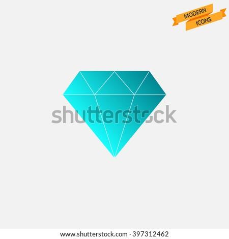 Diamond icon. Modern icon series. Diamond vector - stock vector