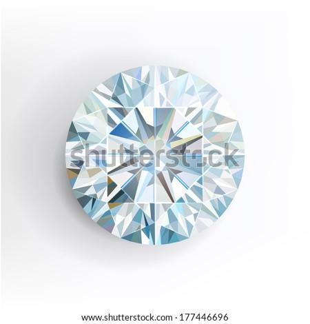 Diamond isolated on white background. Vector - stock vector