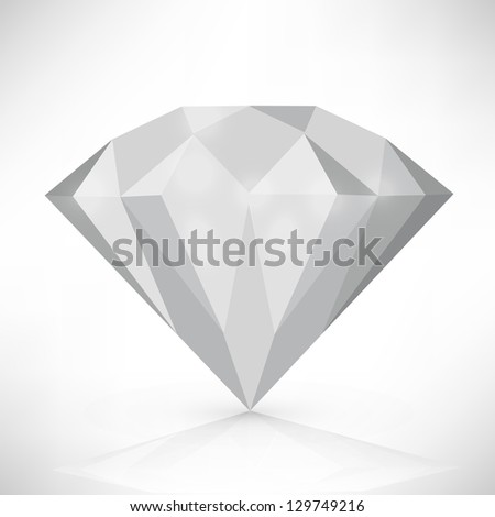 Diamond isolated on white. vector illustration - stock vector