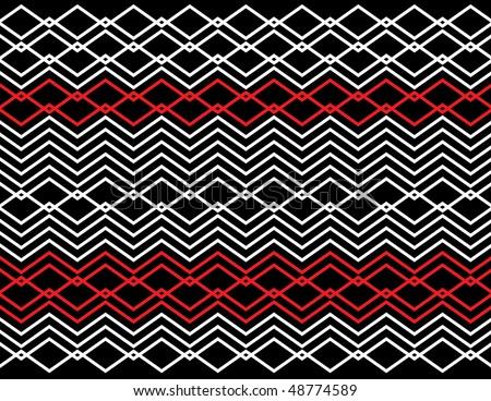 Diamond-link Deco - stock vector