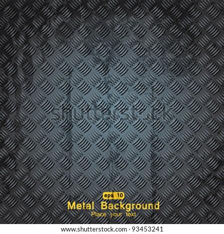 diamond metal background - stock vector