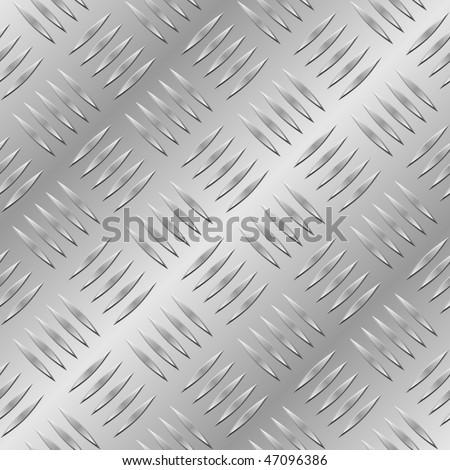 Diamond metal plate seamless vector pattern. - stock vector
