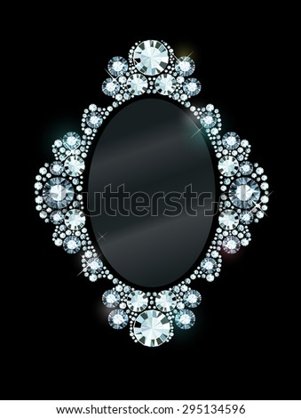 Diamond Mirror Frame - stock vector