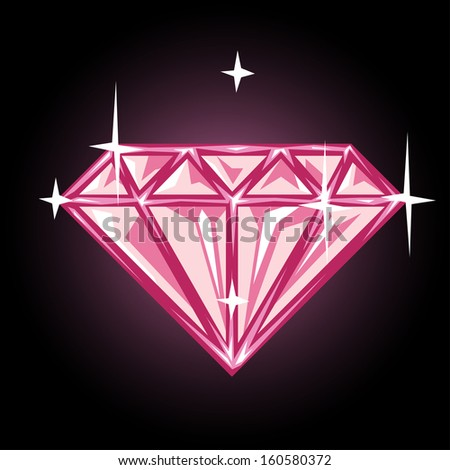 Diamond or gem symbol in vector - stock vector