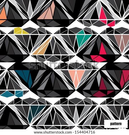 Diamond pattern, background, texture - stock vector