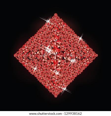 Diamond poker card , vector illustration - stock vector