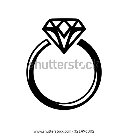 diamond ring vector icon - photo #11