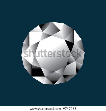 Diamond round shape - stock vector