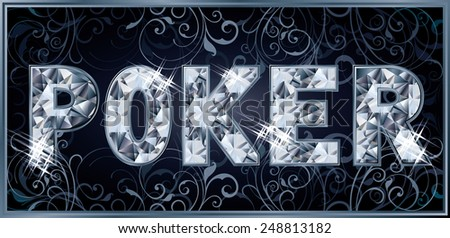 Diamond royal poker banner, vector illustration