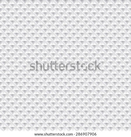 Diamond seamless abstract geometrical background in white - stock vector