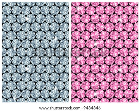 diamond seamless pattern / vector / 2 color variants - stock vector