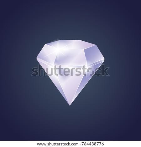 Diamond Vector Icon Stock Vector 593691971 - Shutterstock