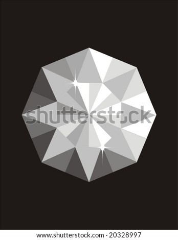 Diamond vector - stock vector