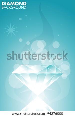 Diamond vector background - stock vector