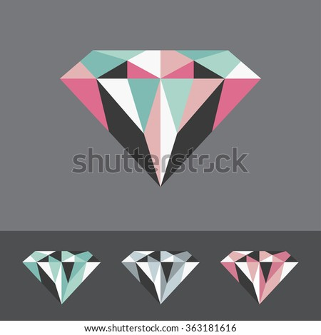 diamond vector illustration - stock vector