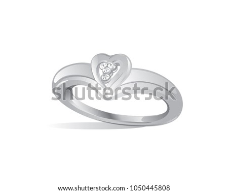 Diamond Wedding Ring Love Symbol Stock Vector 1050445808 Shutterstock