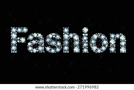 Diamond word fashion  - stock vector
