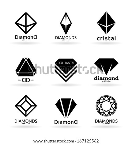 Diamonds (5) - stock vector