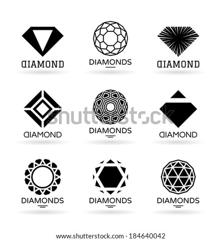 Diamonds (9) - stock vector