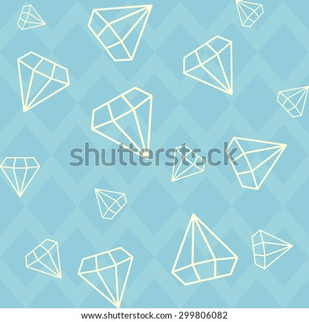 Diamonds background pattern