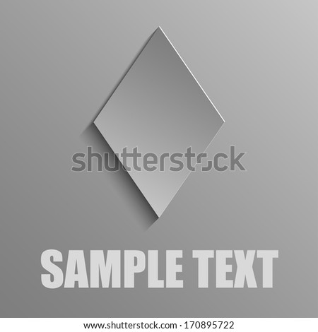 Diamonds on a gray background - stock vector