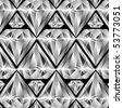 diamonds pattern, abstract vector art illustration - stock vector