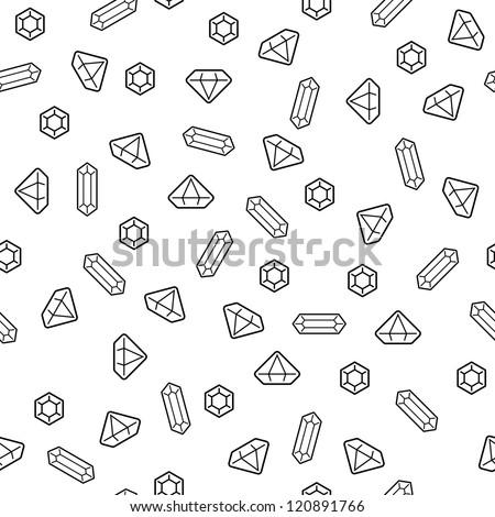 Diamonds seamless pattern (vector version) - stock vector