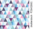 diamonds seamless triangle abstract pattern. Vector illustration - stock photo