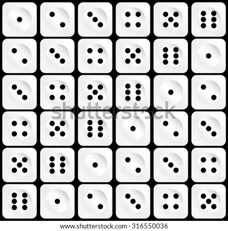 Dice Background. Vector