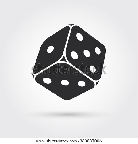 dice icon - stock vector